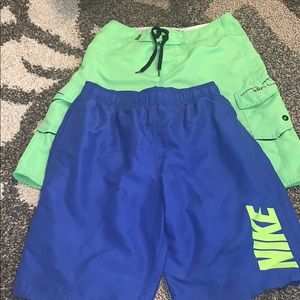Nike and Ron Jon Lot of (2) boys swimsuits